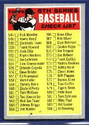 1970 Topps Baseball Cards      542     Checklist 6