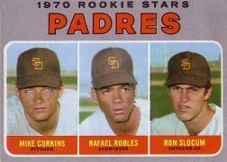 1970 Topps Baseball Cards      573     Rookie Stars-Mike Corkins RC-Rafael Robles-Ron Slocum RC