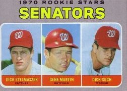 1970 Topps Baseball Cards      599     Rookie Stars-Dick Stelmaszek RC-Gene Martin RC-Dick Such RC