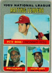 1970 Topps Baseball Cards      061      NL Batting Leaders-Pete Rose-Roberto Clemente-Cleon Jones
