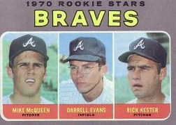 1970 Topps Baseball Cards      621     Rookie Stars-Mike McQueen RC-Darrell Evans RC-Rick Kester RC