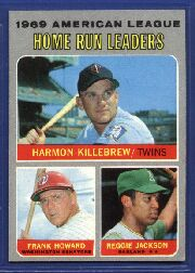 1970 Topps Baseball Cards      066      AL Home Run Leaders-Harmon Killebrew-Frank Howard-Reggie Jackson
