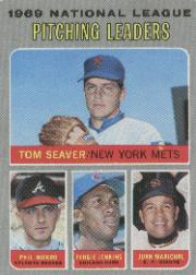 1970 Topps Baseball Cards      069      NL Pitching Leaders-Tom Seaver-Phil Niekro-Fergie Jenkins-Juan Marichal