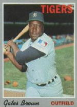 1970 Topps Baseball Cards      098      Gates Brown