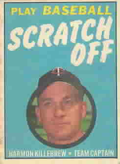 1970 Topps Scratchoffs Baseball Cards