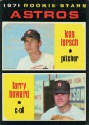 1971 Topps Baseball Cards      102     Ken Forsch RC/Larry Howard RC