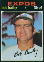 1971 Topps Baseball Cards      157     Bob Bailey