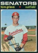 1971 Topps Baseball Cards      167     Tom Grieve RC