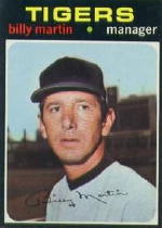1971 Topps Baseball Cards      208     Billy Martin MG