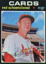 1971 Topps Baseball Cards      239     Red Schoendienst MG