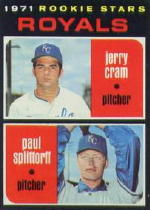 1971 Topps Baseball Cards      247     Jerry Cram RC/Paul Splittorff RC