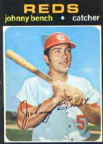 1971 Topps Baseball Cards      250     Johnny Bench