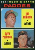 1971 Topps Baseball Cards      262     Jim Williams/Dave Robinson RC