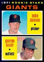 1971 Topps Baseball Cards      276     Mike Davison RC/George Foster RC