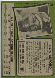1971 Topps Baseball Cards      029      Don Buford