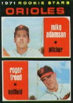 1971 Topps Baseball Cards      362     Mike Adamson/Roger Freed