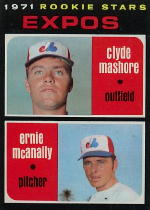 1971 Topps Baseball Cards      376     Clyde Mashore RC/Ernie McAnally RC
