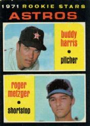 1971 Topps Baseball Cards      404     Buddy Harris RC/Roger Metzger RC