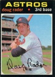 1971 Topps Baseball Cards      425     Doug Rader
