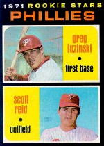 1971 Topps Baseball Cards      439     Greg Luzinski RC/Scott Reid