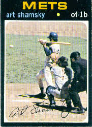 1971 Topps Baseball Cards      445     Art Shamsky