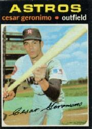 1971 Topps Baseball Cards      447     Cesar Geronimo RC