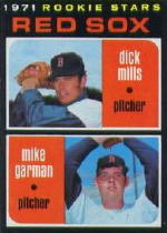 1971 Topps Baseball Cards      512     Dick Mills RC/Mike Garman RC