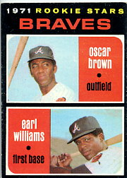 1971 Topps Baseball Cards      052      Oscar Brown RC/Earl Williams RC
