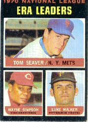 1971 Topps Baseball Cards      068      Tom Seaver/Wayne Simpson/Luke Walker LL