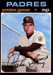 1971 Topps Baseball Cards      737     Preston Gomez MG SP