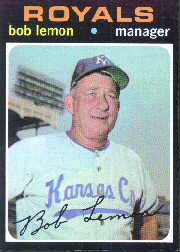 1971 Topps Baseball Cards      091      Bob Lemon MG