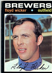 1971 Topps Baseball Cards      097      Floyd Wicker