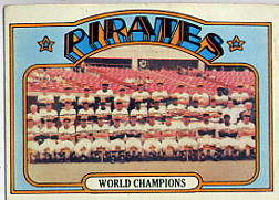 1972 Topps Baseball Cards      001       Pittsburgh Pirates TC