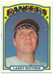 1972 Topps Baseball Cards      122     Larry Biittner RC