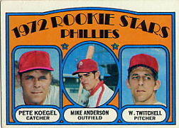 1972 Topps Baseball Cards      014      Pete Koegel/Mike Anderson/Wayne Twitchell RC
