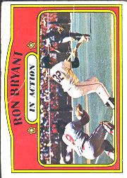 1972 Topps Baseball Cards      186     Ron Bryant IA