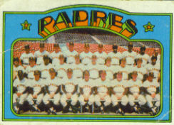 1972 Topps Baseball Cards      262     San Diego Padres TC