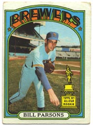1972 Topps Baseball Cards      281     Bill Parsons RC