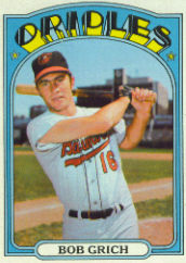 1972 Topps Baseball Cards      338     Bob Grich