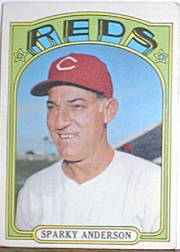 1972 Topps Baseball Cards      358     Sparky Anderson MG