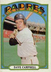 1972 Topps Baseball Cards      384     Dave Campbell