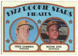 1972 Topps Baseball Cards      392     Frank Cambria/Richie Zisk RC