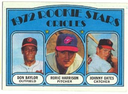 1972 Topps Baseball Cards      474     Don Baylor/Roric Harrison/Johnny Oates RC