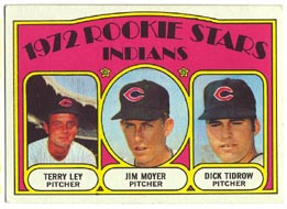 1972 Topps Baseball Cards      506     Terry Ley/Jim Moyer/Dick Tidrow RC