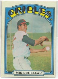 1972 Topps Baseball Cards      070      Mike Cuellar