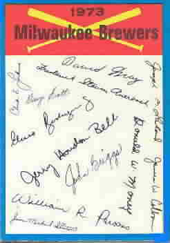 1973 O-Pee-Chee Blue Team Checklists Baseball Cards
