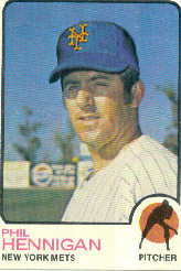 1973 Topps Baseball Cards      107     Phil Hennigan