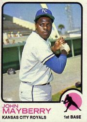 1973 Topps Baseball Cards      118     John Mayberry