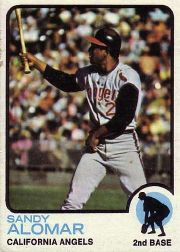 1973 Topps Baseball Cards      123     Sandy Alomar