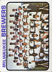 1973 Topps Baseball Cards      127     Milwaukee Brewers TC